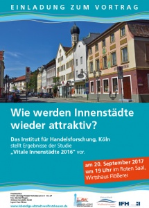 Plakat Vitale Innenstädte